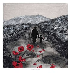 Remembrance Day art by Jacqueline Hurley Painting 'My Knight In Body Armour'