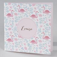 Buromac Baby Folly II 586015 Faire-part de naissance. La grâce et l'élégance du flamant rose procurent à votre faire-part naissance toutes ses qualités. Vous pourrez annoncer la bonne nouvelle avec douceur et pureté. Un joli texte rose sera parfait.