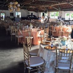 A beautiful event set-up in the repair garage.