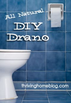 All-Natural DIY Drano - Safe and effective alternative for unclogging toilets and drains.  Only 2 ingredients!