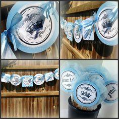 Prince Baby Shower Theme Baby Blue Banner Handmade original by Chocolatetulipdesign via Etsy