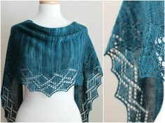 Top 5 wedding shawl knitting patterns: Zigzag shawl by Michelle Krause