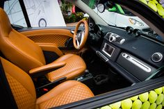 This quilted leather interior on the Brabus smart was a grand slam at the #USOpen. #smartcar