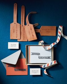 DIY Stampled Leather Luggage Tags; template on Mathastewart.com