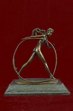 ...Handmade...European Bronze Sculpture Modern Vintage Art Deco Dh Chiparus Female Dancer Metal (3XXN-2000) Bronze Sculpture Statues Figurine Nude Office & Home Décor Collectibles Sale Deal Gifts