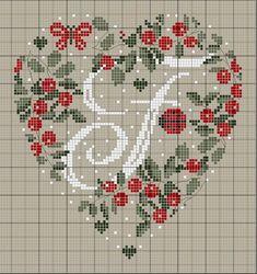Letter N Crossstitch Cross Stitch Alphabet Patterns, Embroidery Alphabet, Cross Stitch Letters, Just Cross Stitch, Cross Stitch Heart, Cross Stitch Samplers, Cross Stitch Designs, Cross Stitching, Cross Stitch Embroidery
