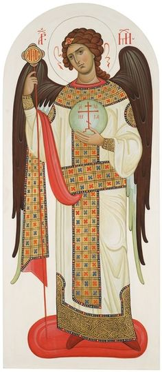 Cathedral of the Archangel Mikhail Michael Angel, St Michael, Byzantine Art, Byzantine Icons, Religious Icons, Religious Art, Religion, Spiritual Images, Angel Images