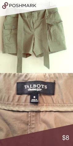 Talbots Shorts Lightly worn. Olive green. 100% cotton. Talbots Shorts