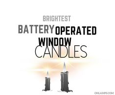 Brightest Battery Operated Window Candles #candles #windowdecoration Long Candles, Window Candles, Battery Operated, Bright, Windows, Window