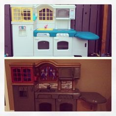 Little tykes kitchen updated for my girls for Christmas :)