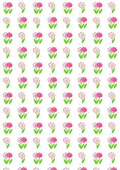 FREE printable springy floral pattern paper