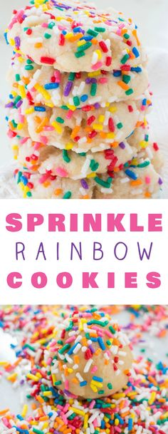 Rainbow Sprinkled Bu