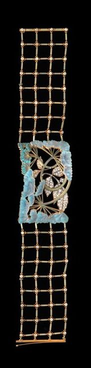 Lalique 1901-02 'Umbels' Dog Collar Necklace: gold/ enamel/ glass/ diamonds/ vmfa.museum