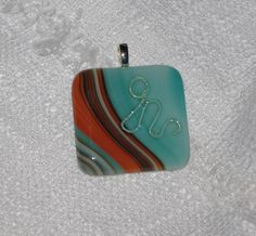 Square orange and teal pendant Teal, Orange, Pendant, How To Make, Collection, Fashion, Moda, Fashion Styles, Pendants