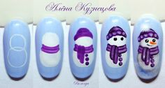 You don't need to choose the same nail art patterns over and over again. Nail Art Noel, Xmas Nail Art, Holiday Nail Art, Xmas Nails, Christmas Nail Art Designs, Winter Nail Art, Winter Nail Designs, Diy Nails, Christmas Nails