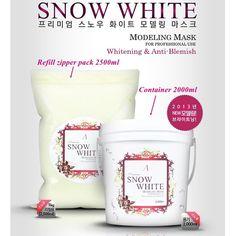 SNOW WHITE Refill 2500ml Masque Powder Professional Whitening & Anti-Blemish #Anskin