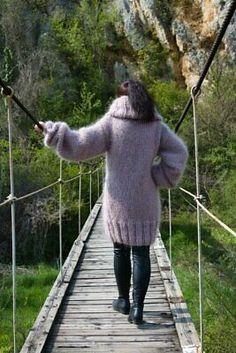 Mohair Sweater, Turtleneck, Hand Knitting, Beige, Sweaters, Ebay, Dresses, Fashion, Vestidos
