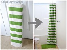 shower curtain diy