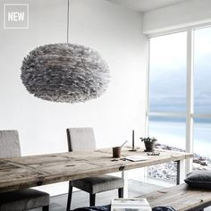 Shop Eos Feather Lampshade Light Grey Pendant Light by Vita Copenhagen. Pendants, Floor and Table Lamps are a simple way to enhance your home or office decor. Glass Pendant Light, Pendant Lamp, Pendant Lighting, Eos, Ceiling Lamp Shades, Ceiling Lights, Feather Lamp, Design Light, White Canopy