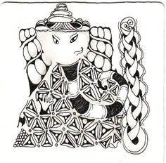 Zentangle Ganesha 101 by Shelly Beauch Lord Ganesha, Lord Shiva, Zen Doodle, Art Forms, Princess Zelda, Zentangles, Fictional Characters, Crafts, Inspiration