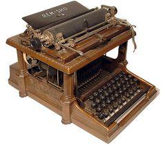 vintage+typewriter | Smith Premier 1 typewriter - 1890, www.antiquetypewriters.com