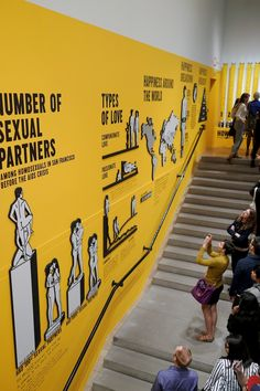 The Happy Show by Stefan Sagmeister is being shown at MOCA (Museum of Contemporary Art) in LA as of today (March Last night was a special opening and when I heard that Sagmeister would be speaking there, I had to attend. The show is open till June  Office Wall Design, Gym Design, Booth Design, Sagmeister And Walsh, Stefan Sagmeister, Exhibition Display, Museum Exhibition, Moca Museum, Happy Show