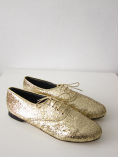 Pony oxfords flats in Glitter by goldenponies on Etsy, $39.00 | These are a must have!