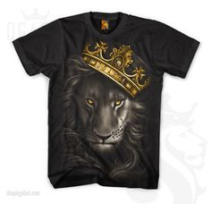 OG-ABEL-CLOTHING-FIERCE-LION-CROWN-KING-URBAN-PUNK-INK-TATTOO-T-TEE-SHIRT-S-4XL