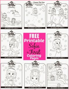 Disney Sofia The First The Floating Palace - Free Printable Coloring Sheets and Activity Pages