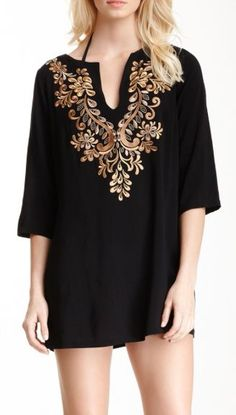 Classy Swimsuit Coverup or Tunic Top