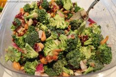 Broccoli Salad w/ craisins and cashews. sounds *****   ;-)   need to try