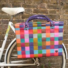 Recycled Straps Pannier Multi Colours | Cyclechic