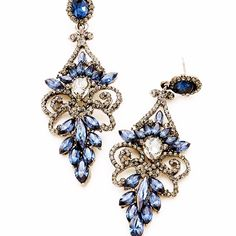 Available in 8 Colors. Chandelier Earrings, Drop Earrings, Crystal Chandeliers, Crystal Drop, Blue Crystals, Brooch, Colors, Jewelry, Jewlery
