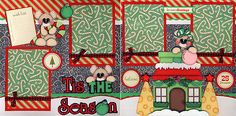 Tis The Season Christmas 2 Premade Scrapbook Pages Paper Piecing by Cherry | eBay