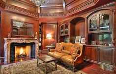 marble fireplace in the room - #interiors #décor #decorating - #fireplace #fireplaces #fireplacemantels