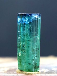 14.10 cts Terminated Gem Grade Blue Cap Tourmaline Crysal from Laghman Afghan