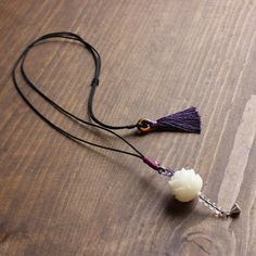 Eastisan Handcarved Natural White Bodhi Seed Flower Pendant Necklace With Elegant Tassle Handmade Unique Jewelry For Women Girl Cheap Necklaces, Girls Necklaces, Unique Necklaces, Unique Jewelry, Handmade Jewelry, Beaded Wrap Bracelets, Beaded Necklace, Pendant Necklace, Mermaid Necklace