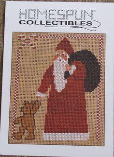 Homespun Collectibles Santa Claus Designs Counted Cross Stitch Pattern | eBay