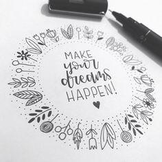 mentions J'aime, 15 commentaires - Léan Breytenbach (LEan Brey) sur Ins. Hand Lettering Quotes, Doodle Lettering, Creative Lettering, Chalk Typography, Lettering Ideas, Bullet Journal Ideas Pages, Bullet Journal Inspiration, Doodle Drawings, Doodle Art