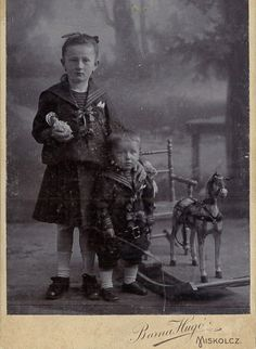 Hungarian sister and brother in sailor suits.