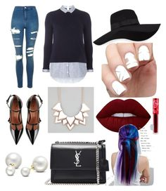 """""""Casual OOTD"""" by mei-mei-1 on Polyvore featuring Dorothy Perkins, Topshop, RED Valentino, Yves Saint Laurent, San Diego Hat Co., Full Tilt, Allurez, Lime Crime and Manic Panic NYC"""