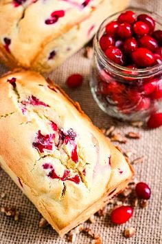 This sweet cream cheese bread compliments the tart cranberries it's loading with resulting in an amazing Cream Cheese Cranberry Bread! If you are looking for a new quick bread recipe that is perfect for the fall and Thanksgiving you have found it. It's so amazingly soft and tender, plus quick and easy to make. I love a big slice with butter and a mug of coffee or for a quick snack in the afternoon! #cranberry #bread Sweet Bread Loaf Recipe, Quick Bread Recipes, Cheesy Recipes, Easy Casserole Recipes, Baking Recipes, Easy Bread, Dessert Recipes, Recipes Dinner, Pie Recipes