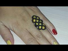 """Кольцо из бисера """"Косичка""""/Ring from beads """"Piglet"""" - YouTube"""