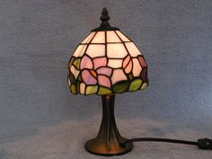 Stained Glass Lamp  Tiffany Style by SandECollectibles on Etsy
