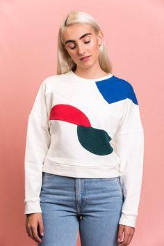 Bauhaus géométrique Sweat-shirt à la main - WilderShores
