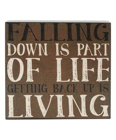 Another great find on #zulily! 'Falling Down' Wall Box Sign #zulilyfinds