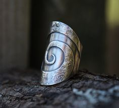Spiral Journey  sterling silver ring by spiralstone on Etsy, $180.00