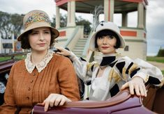 """Dorothy """"Dot"""" Williams played by Ahleigh Cummings  and Miss Phryne Fisher played by Essie Davis"""