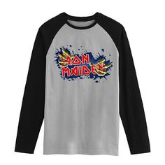 Iron maiden Vintage fashion men women size raglan full sleeves long sleeves t shirt item NO. FLBMSS-089 #Affiliate
