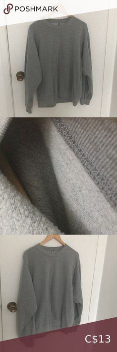 Grey sweater This sweater is not too warm so it's better for fall and winter. It fits good on medium size people. I am tall and it looks weird on me because of that. Grey Sweater, Gray Color, Weird, Scoop Neck, Sweaters For Women, Medium, Fall, Winter, People